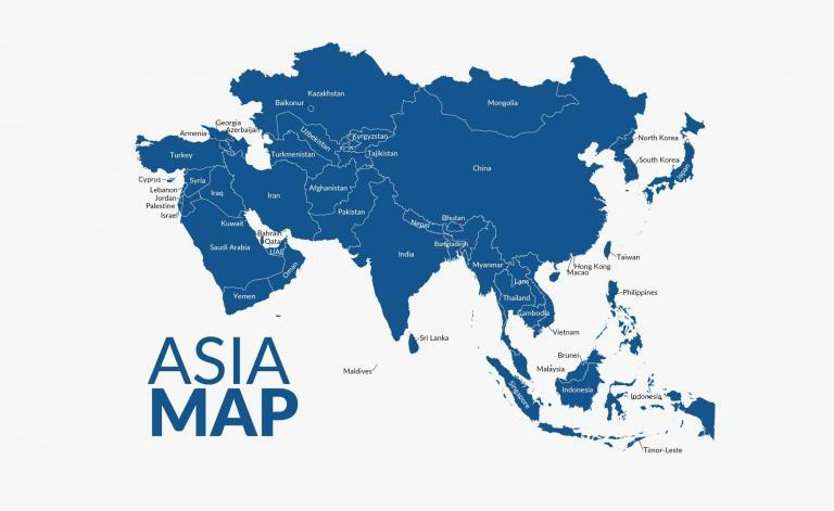 Map of Asia – Country Atlas