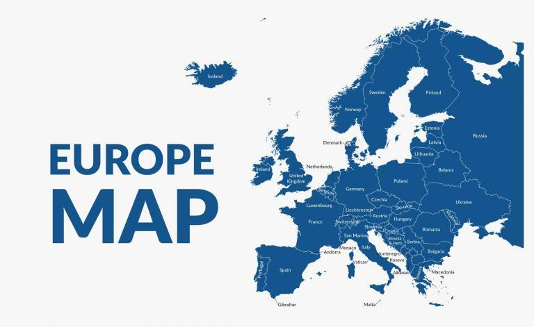 Europe Map – Countries and Geography