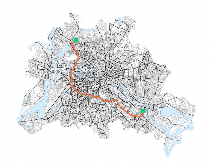 Shortest Route Network Analysis