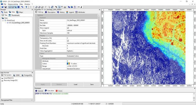 SAGA GIS LiDAR Viewer