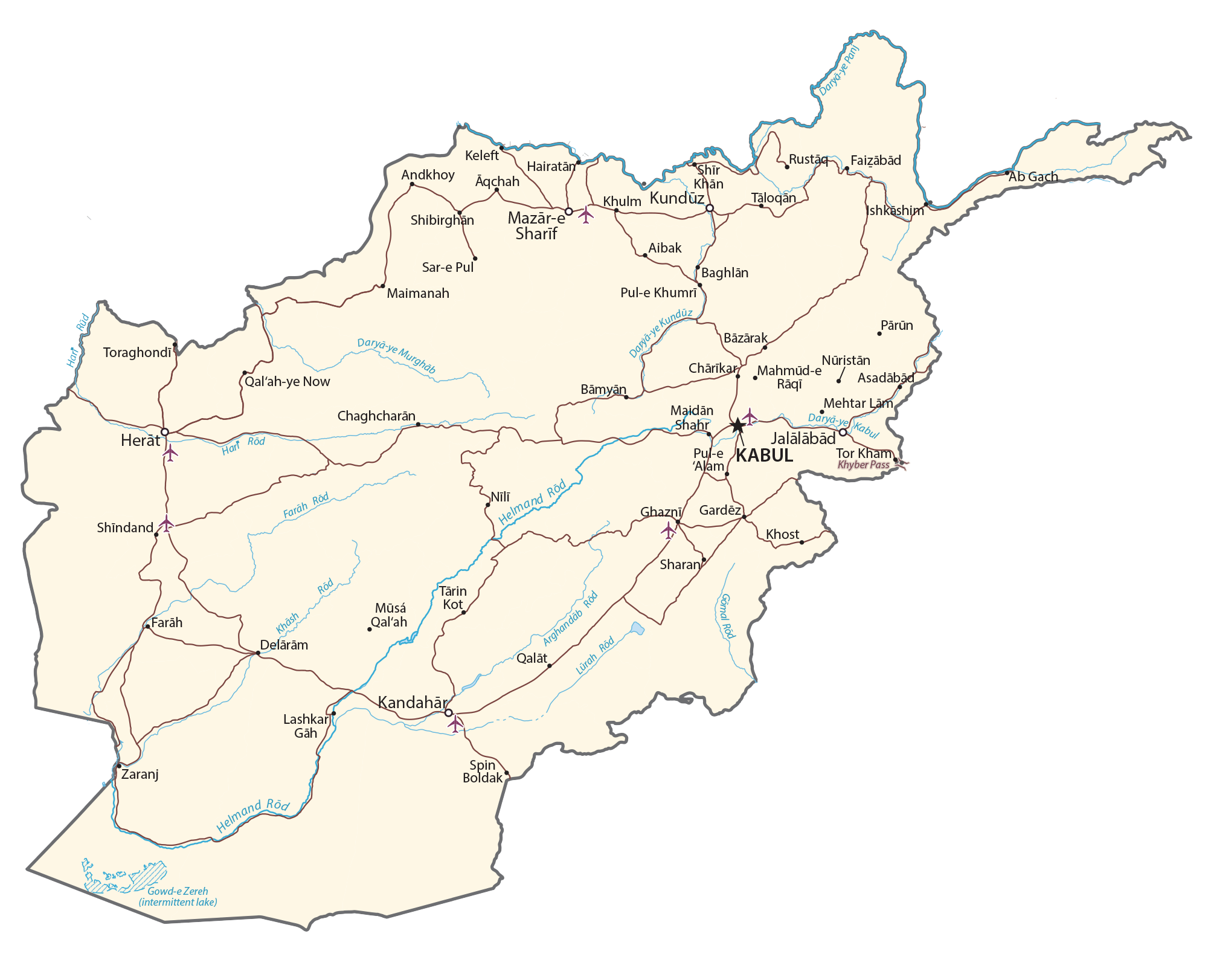 Afghanistan Map Gis Geography