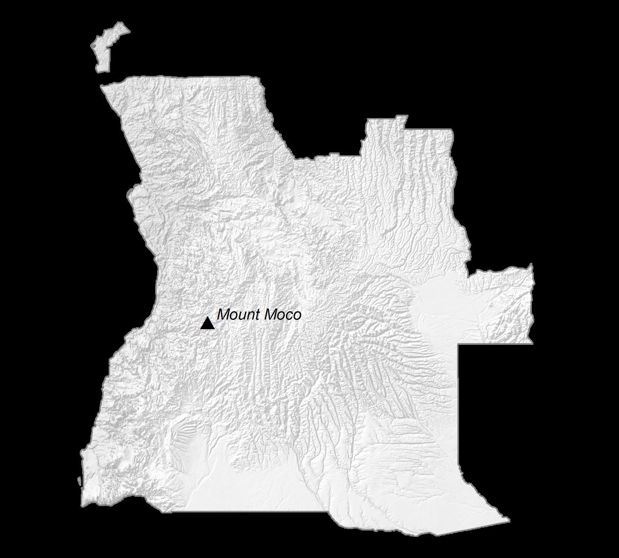 Angola Elevation Map