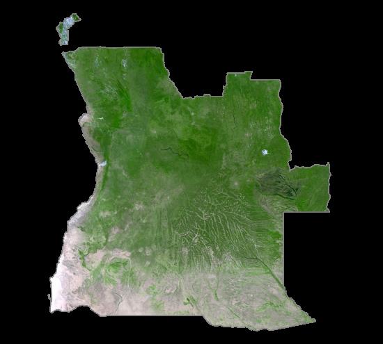 Angola Satellite Map