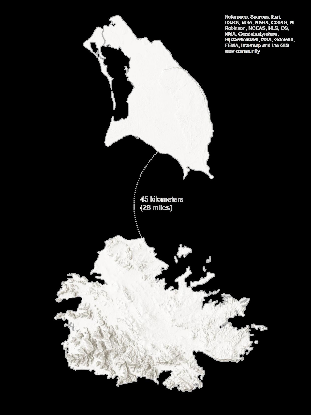 Antigua and Barbuda Elevation Map