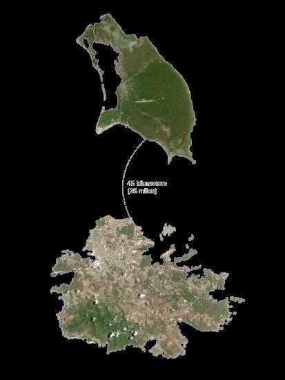 Antigua and Barbuda Satellite-Map