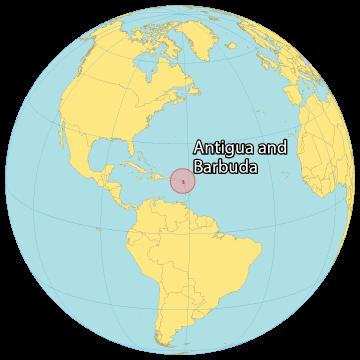 Antigua and Barbuda World Map
