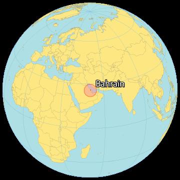 Bahrain World Map