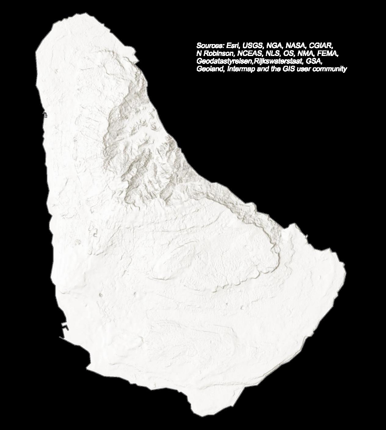 Barbados Elevation Map