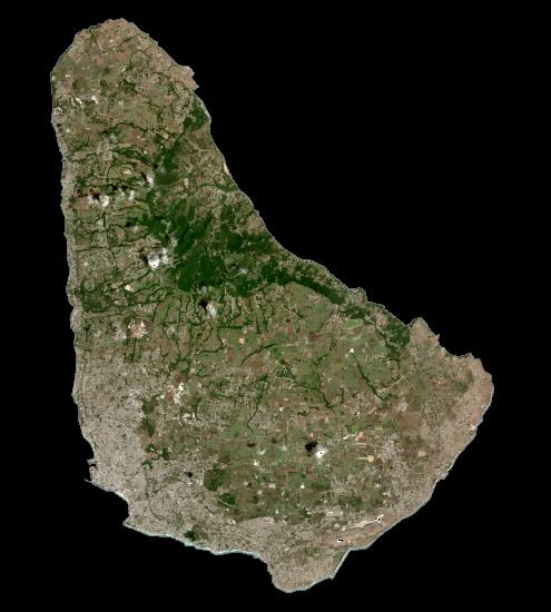 Barbados Satellite Map