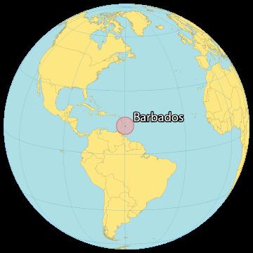 Barbados World Map