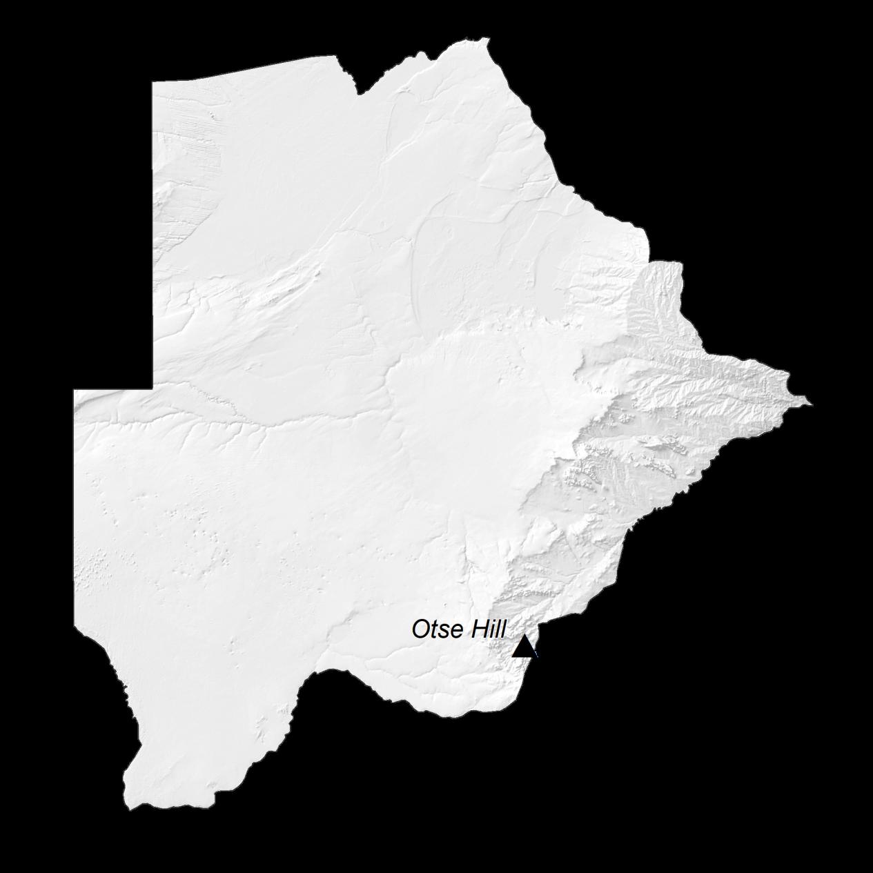 Botswana Elevation Map