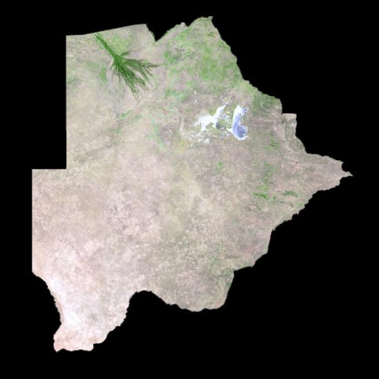 Botswana Satellite Map