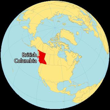 British Columbia Canada Map
