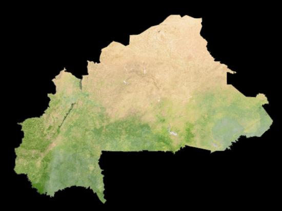 Burkina Faso Satellite Map