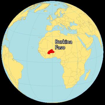 Burkina Faso World Map