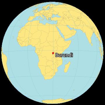 Burundi World Map