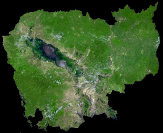 Cambodia Satellite Map