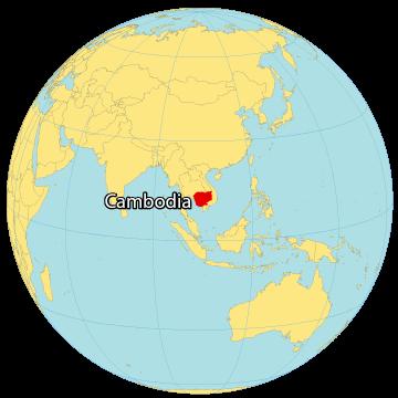 Cambodia World Map