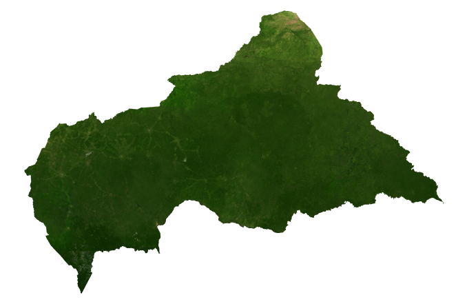 Central Africa Republic Satellite Map