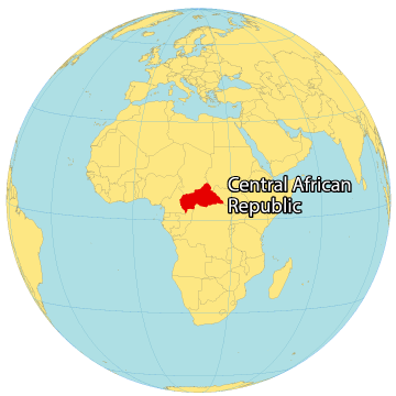 Central Africa Republic World Map