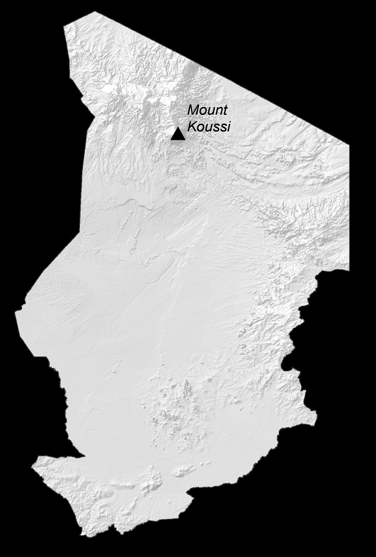 Chad Elevation Map