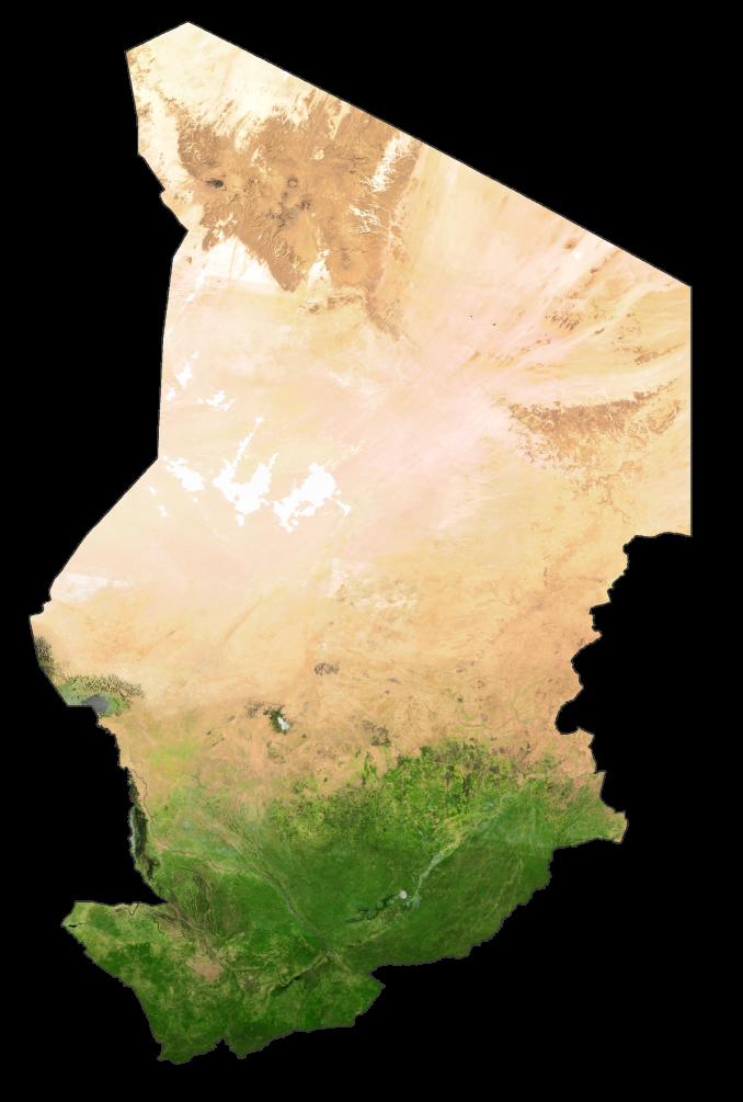 Chad Satellite Map