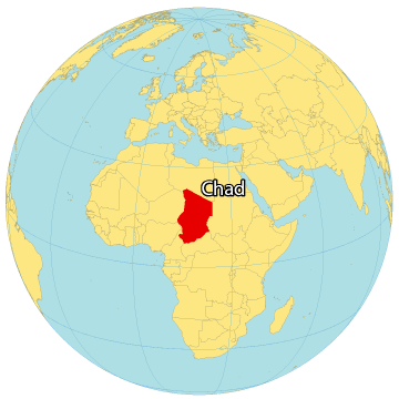 Chad World Map