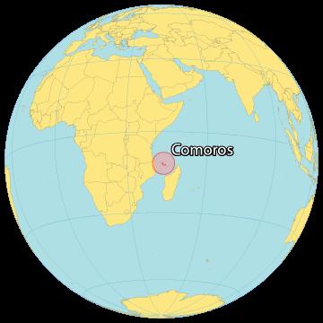 Comoros World Map