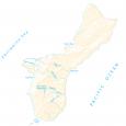 Guam Lakes and Rivers Map