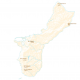 Guam Mountains and Peaks Map