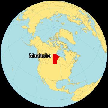 Manitoba Canada Map