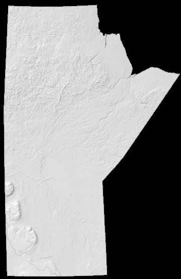 Manitoba Elevation Map