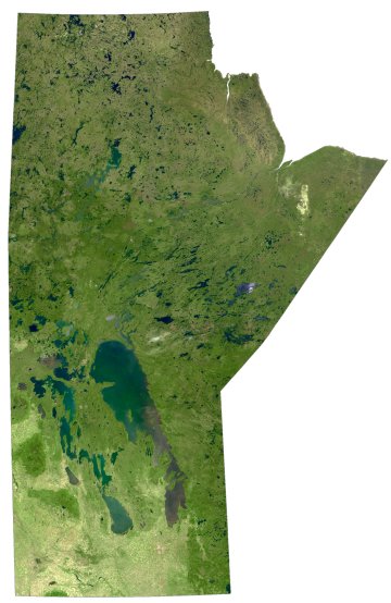 Manitoba Satellite Map