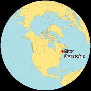 New Brunswick Canada Map
