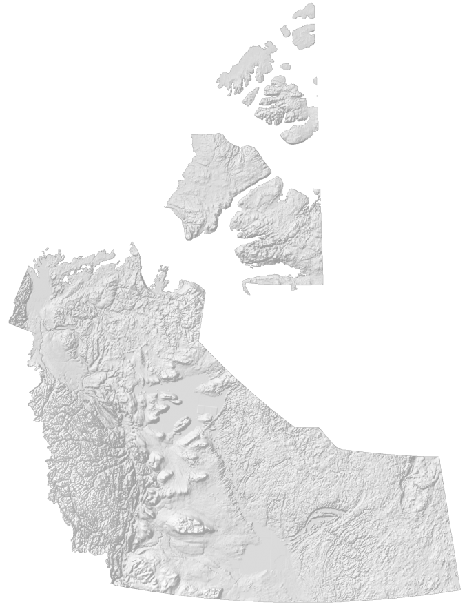 Northwest Territories Elevation Map