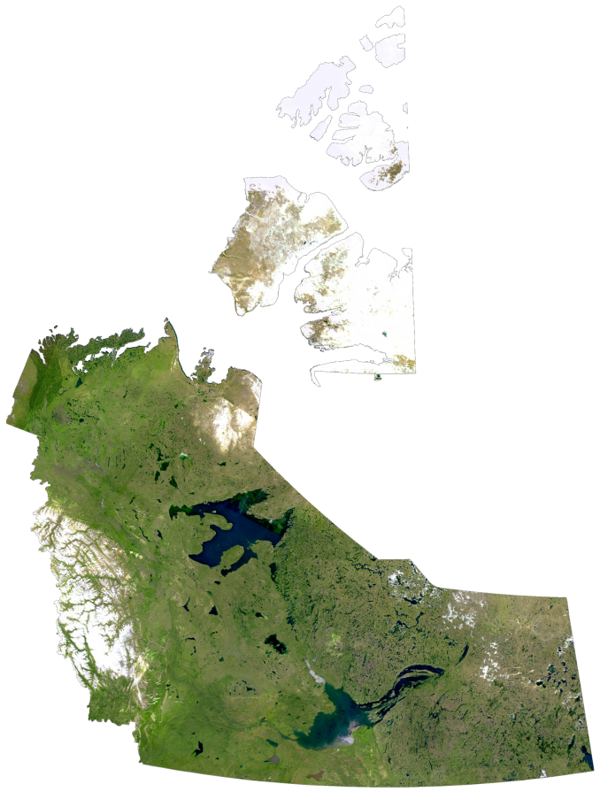 Northwest Territories Satellite Map