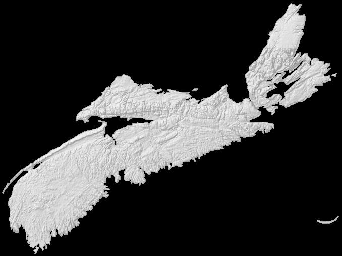 Nova Scotia Elevation Map