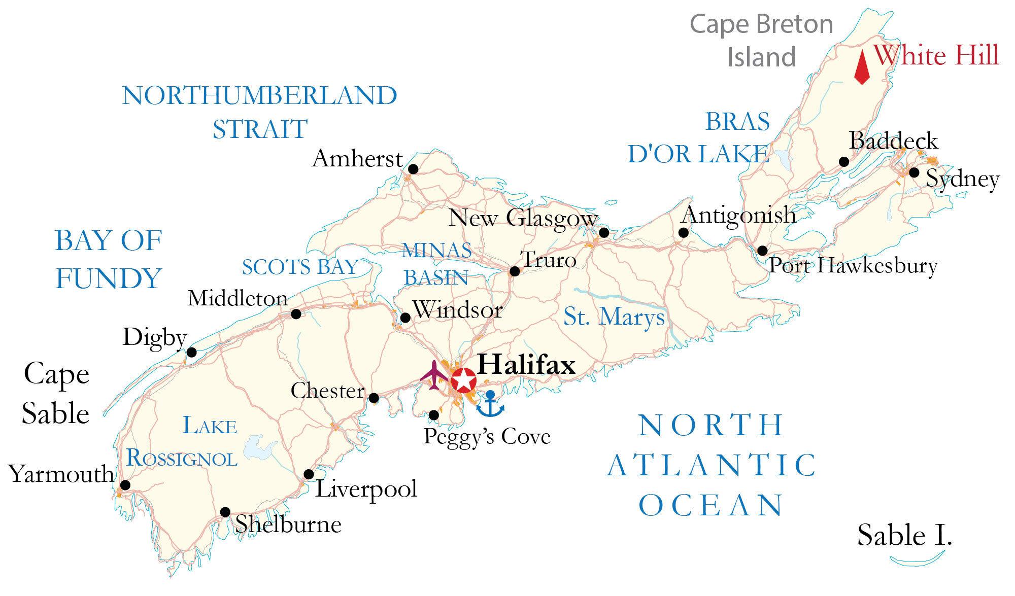 Nova Scotia Map