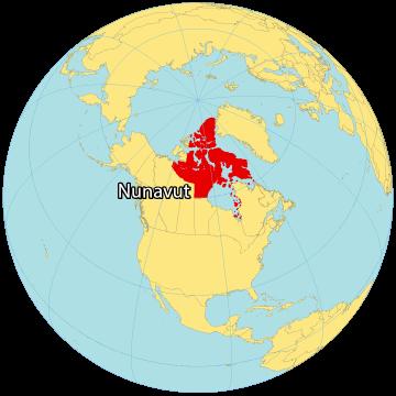 Nunavut Canada Map