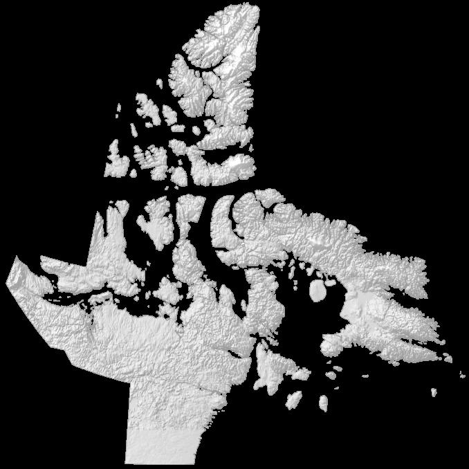 Nunavut Elevation Map