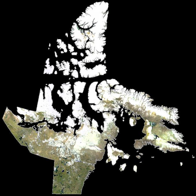 Nunavut Satellite Map