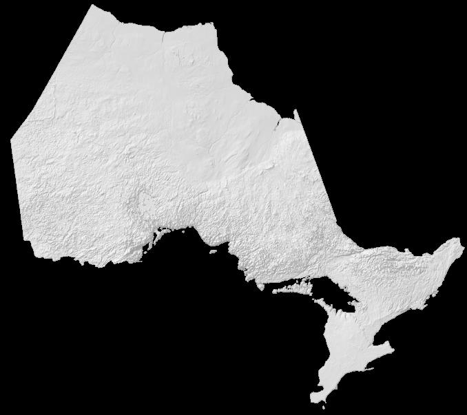 Ontario Elevation Map