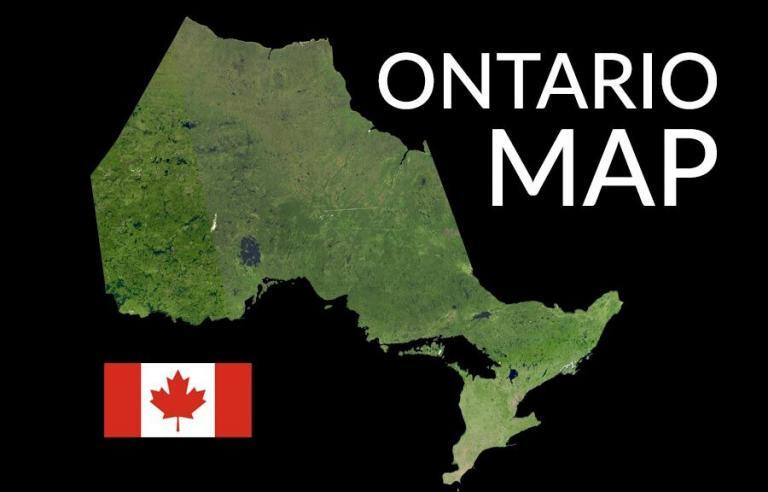 Map of Ontario – Cities and Roads