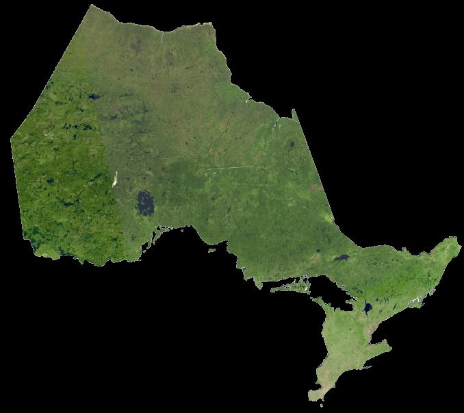 Ontario Satellite Map