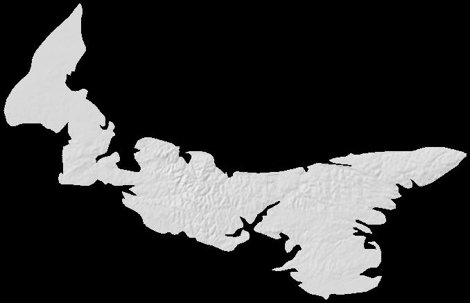 Prince Edward Island Elevation Map