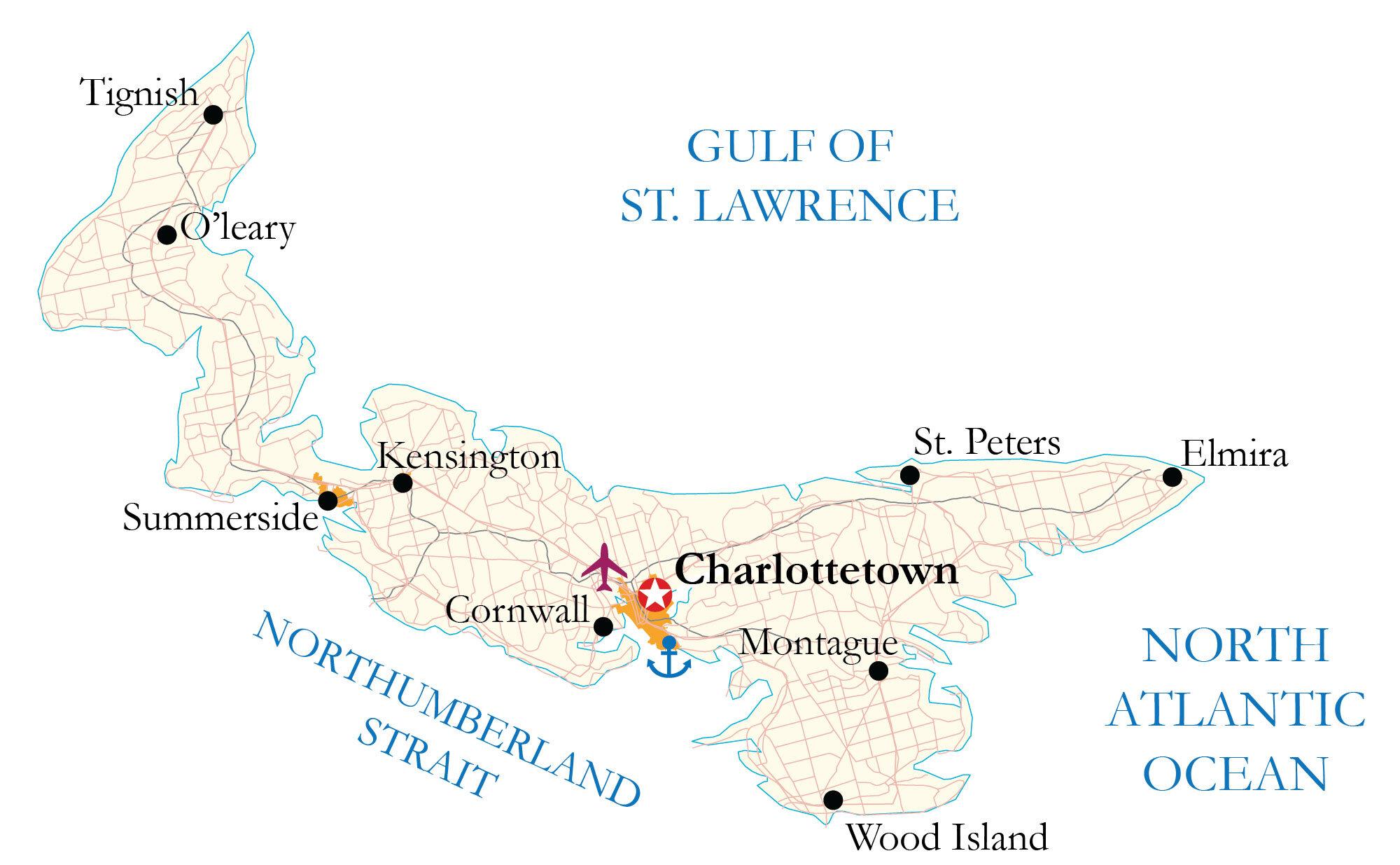 Prince Edward Island Map