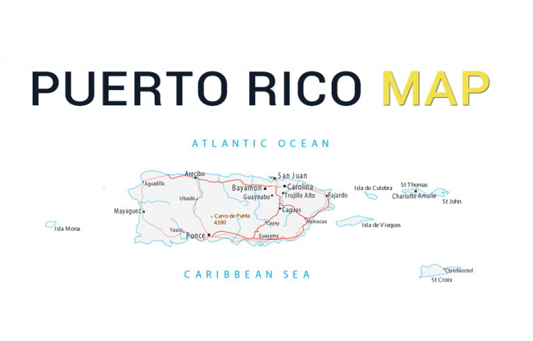 Puerto Rico Map – Cities and Roads