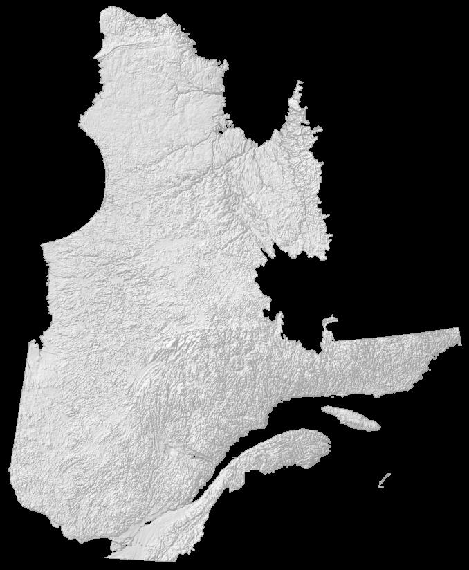Quebec Elevation Map