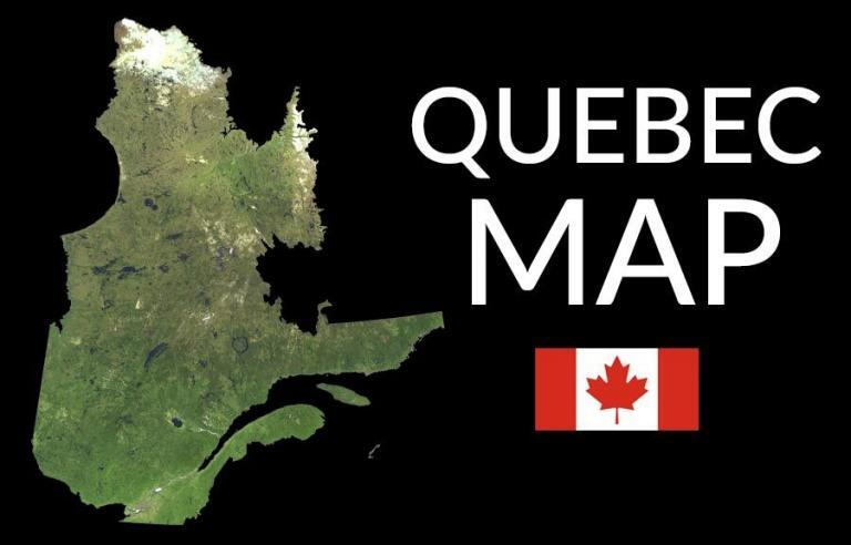 Quebec Map – Cities and Roads
