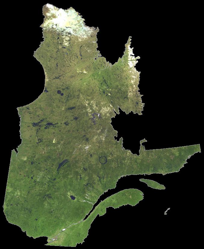 Quebec Satellite Map